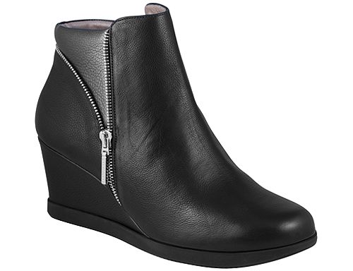 Ines Black Leather/Pewter