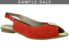 Demi Red Suede/ Gold Size 37