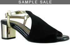 Kima Black Suede/Gold Size 37