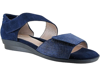 Dita Navy Scale Print Suede
