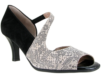 Laurita Lace Printed Nude Suede
