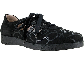 Farah Black Anchor Ropes Print Suede