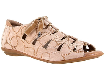 Edyta Bisque Anchor Ropes Print Suede