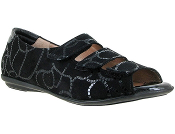Ariel Black Anchor Ropes Print Suede