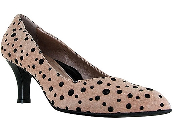 Tai Neutral/Black Grande Polka Suede