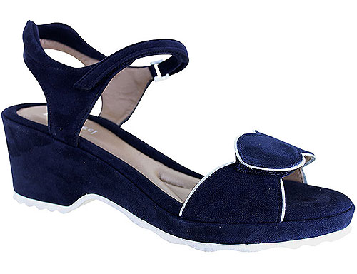 Emma Navy/White Suede Combi