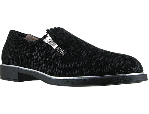 Issey Black 3D Chantilly Suede