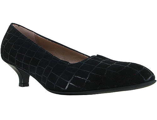 Mystique Black Croco Print Suede