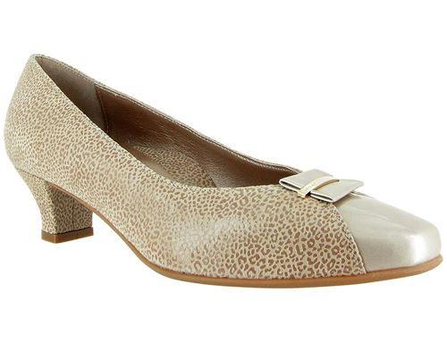 April Champagne Leo Print Suede