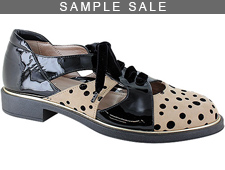Broadway Nude/Black Dots Size 37