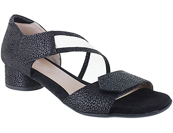 Patty Black Leo Matte Print Suede Combi