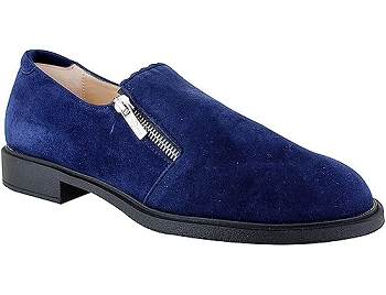 Blue Dark Navy Suede