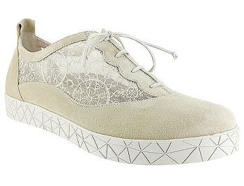 Rosalie Champ Suede/French Lace Mesh