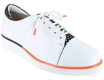 Jane White Leather/Black Combi