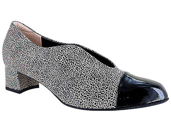 Meryl Fall Taupe Leopard Matte Print Suede/Patent