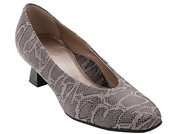 Love Fall Taupe Reptile Print Suede